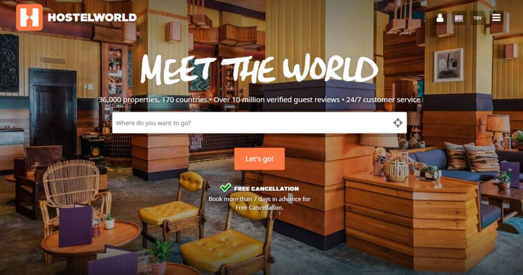 Book Hotels During Solo Trips Using HostelWorld