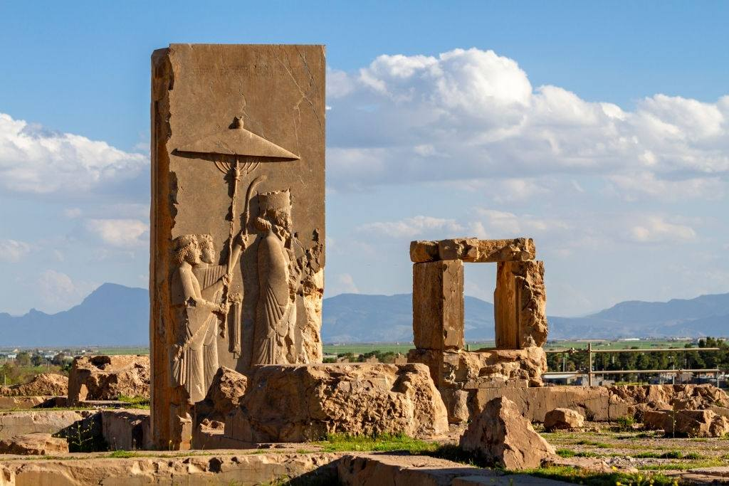 Remains of Persepolis, antique Persian city