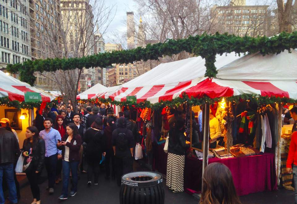 visit Holiday Market NYC during christmas - Travelistia